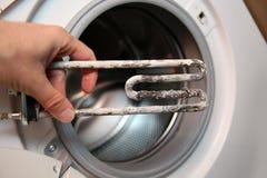Calentador eléctrico de la lavadora Imagen de archivo libre de regalías
