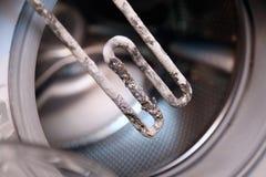 Calentador eléctrico de la lavadora Fotografía de archivo