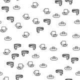 Calentador Pan Element Seamless Pattern de la enfermedad de la gripe stock de ilustración