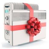 Calentadores con la cinta y el arco rojos Fotografía de archivo libre de regalías