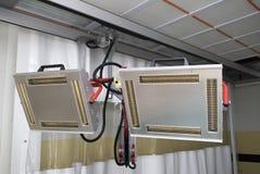 Calentadores infrarrojos foto de archivo