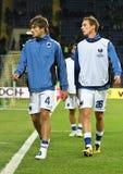 Calentamiento de los jugadores de Sampdoria Génova imagen de archivo