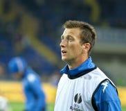 Calentamiento de los jugadores de Sampdoria Génova foto de archivo libre de regalías
