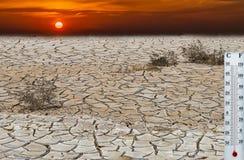 Calentamiento del planeta Imagen de archivo libre de regalías