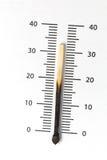 Calentamiento del planeta - concepto de la temperatura Foto de archivo