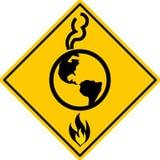 Calentamiento del planeta a continuación Imagen de archivo libre de regalías