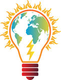 Calentamiento del planeta de la electricidad Foto de archivo