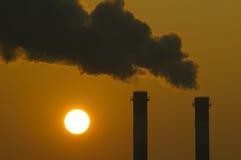 Calentamiento del planeta en la puesta del sol Fotografía de archivo