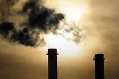 Calentamiento del planeta en la puesta del sol Foto de archivo libre de regalías