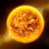 Calentamiento del planeta en la tierra del planeta ilustración del vector