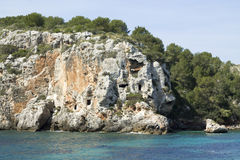 Cales Coves, a coastal corner with 90 excavated coves Stock Photo