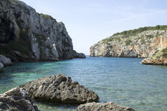Cales Coves, a coastal corner with 90 excavated coves Royalty Free Stock Photography