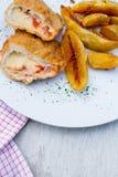 Cales cuites au four de pomme de terre photo stock