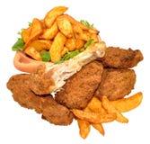 Cales de Fried Chicken Portions And Potato photos stock
