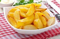 Cales frites de pomme de terre Photographie stock