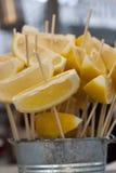 Cales y limones Fotografía de archivo
