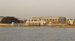 Caleta beach and Antique resort in Cadiz Stock Photo