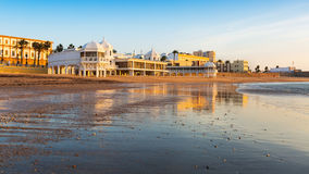 Caleta  Beach in Cadiz Royalty Free Stock Image