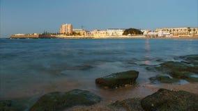 Caleta Beach and Spa Cadiz Spain stock video