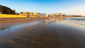 Caleta  Beach in  sunrise time. Cadiz Royalty Free Stock Image