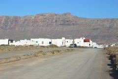 Caleta de Famara σε Lanzarote, Κανάρια νησιά, Ισπανία Στοκ φωτογραφίες με δικαίωμα ελεύθερης χρήσης