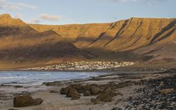 Caleta De Famara Beach, Lanzarote, Spain royalty free stock photography
