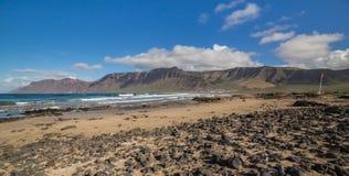 Caleta de Famara, in Lanzarite, Canary Islands Stock Photo