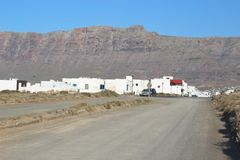 Caleta de Famara on Lanzarote, Canary Islands, Spain. Royalty Free Stock Photos