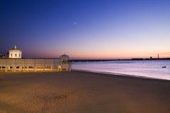 caleta de la playa Arkivbilder