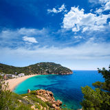 Caleta de Sant Vicent cala San Vicente San Juan d'Ibiza Photos libres de droits