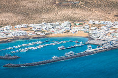 Caleta de Sebo, Espagne -24 en mars 2015 : Bateaux de pêcheurs dans Caleta d Photo stock