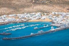 Caleta de Sebo, Espanha -24 março de 2015: Barcos dos pescadores em Caleta d Foto de Stock