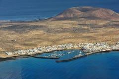 Caleta de Sebo town on Graciosa Island, Canary Islands, Spain Royalty Free Stock Image