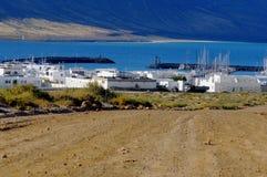 Caleta del Sebo, La Graciosa, Canary islands. Caleta del Sebo, the main settlement on Graciosa Island, separated from Lanzarote by a narrow strait of El Rio Stock Image
