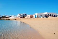 Caleta del Sebo in La Graciosa, Canary Islands, Spain Royalty Free Stock Photo