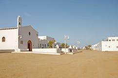 Caleta del Sebo street, La Graciosa Royalty Free Stock Image