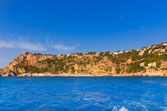 Caleta Figuera Xabia di Ambolo di playa di Javea in Alicante Fotografia Stock
