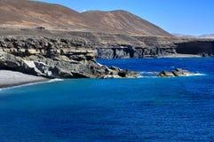 Ajuy coast in Fuerteventura, Canary Islands, Spain Royalty Free Stock Photos