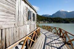 Caleta Tortel - Чили стоковая фотография rf