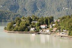 Caleta Tortel -智利 库存图片