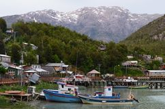 Free Caleta Tortel, A Tiny Coastal Hamlet Located In The Midst Of Aysen Southern Chile's Fjords Royalty Free Stock Photography - 111990367