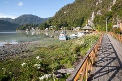 Caleta Tortel - Chile lizenzfreies stockfoto