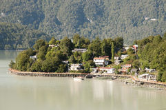 Caleta Tortel - Chile Imagens de Stock