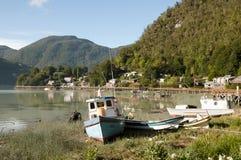 Caleta Tortel - Chile Royalty Free Stock Photos