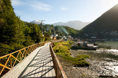 Caleta Tortel - le Chili image libre de droits