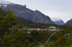 Caleta Tortel, une hameau côtière minuscule située au beau milieu des fjords de €™s d'Aysen Southern Chileâ Images stock