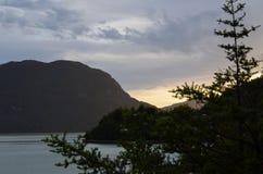 Caleta Tortel, une hameau côtière minuscule située au beau milieu des fjords de €™s d'Aysen Southern Chileâ Photo libre de droits