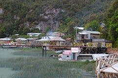 Caleta Tortel, une hameau côtière minuscule située au beau milieu des fjords de €™s d'Aysen Southern Chileâ Photographie stock