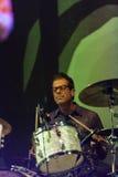 Calexico生活音乐会约翰convertino在意大利, Ariano irpino 免版税图库摄影