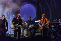 Calexico levande konsert i Italien, Ariano irpino Royaltyfri Fotografi